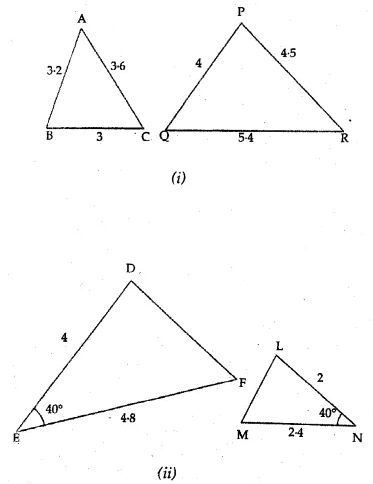 ML Aggarwal Class 10 Solutions for ICSE Maths Chapter 13 Similarity Ex 13.1 1