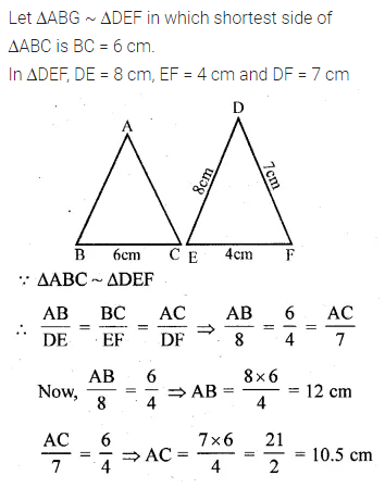 ML Aggarwal Class 10 Solutions for ICSE Maths Chapter 13 Similarity Ex 13.1 11