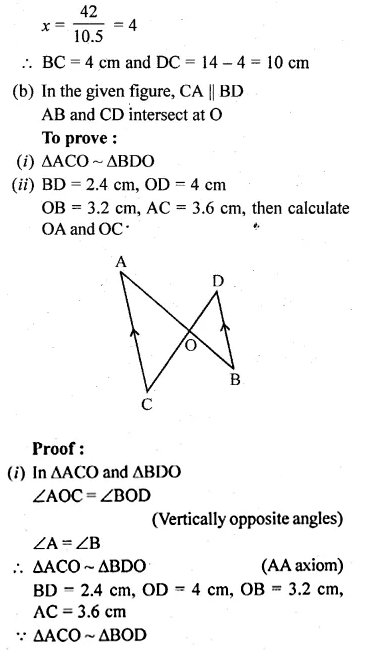 ML Aggarwal Class 10 Solutions for ICSE Maths Chapter 13 Similarity Ex 13.1 15