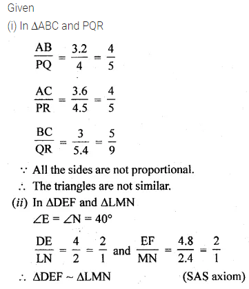 ML Aggarwal Class 10 Solutions for ICSE Maths Chapter 13 Similarity Ex 13.1 2
