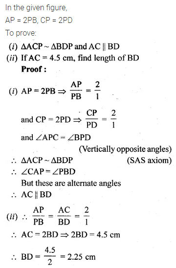 ML Aggarwal Class 10 Solutions for ICSE Maths Chapter 13 Similarity Ex 13.1 22