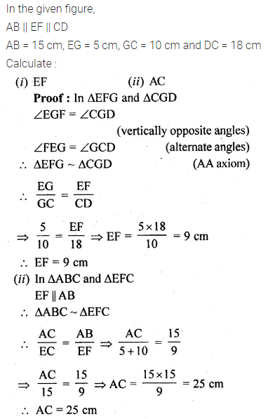 ML Aggarwal Class 10 Solutions for ICSE Maths Chapter 13 Similarity Ex 13.1 46