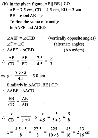 ML Aggarwal Class 10 Solutions for ICSE Maths Chapter 13 Similarity Ex 13.1 47