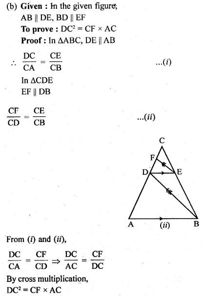 ML Aggarwal Class 10 Solutions for ICSE Maths Chapter 13 Similarity Ex 13.2 12