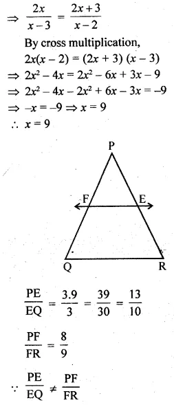 ML Aggarwal Class 10 Solutions for ICSE Maths Chapter 13 Similarity Ex 13.2 8