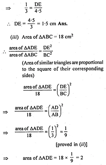 ML Aggarwal Class 10 Solutions for ICSE Maths Chapter 13 Similarity Ex 13.3 18