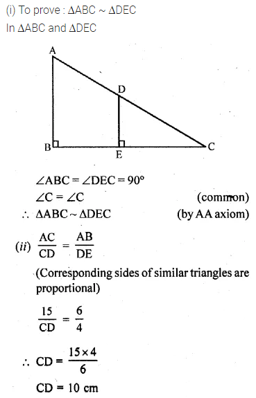 ML Aggarwal Class 10 Solutions for ICSE Maths Chapter 13 Similarity Ex 13.3 21