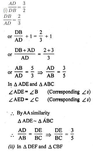 ML Aggarwal Class 10 Solutions for ICSE Maths Chapter 13 Similarity Ex 13.3 24
