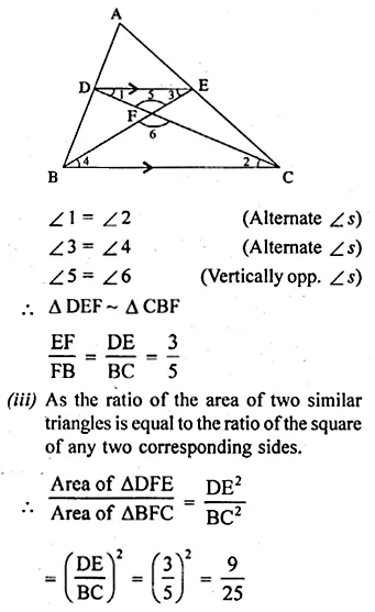 ML Aggarwal Class 10 Solutions for ICSE Maths Chapter 13 Similarity Ex 13.3 25