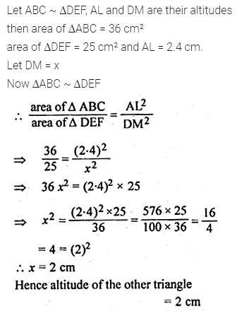 ML Aggarwal Class 10 Solutions for ICSE Maths Chapter 13 Similarity Ex 13.3 4