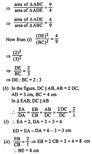 ML Aggarwal Class 10 Solutions for ICSE Maths Chapter 13 Similarity Ex 13.3 40