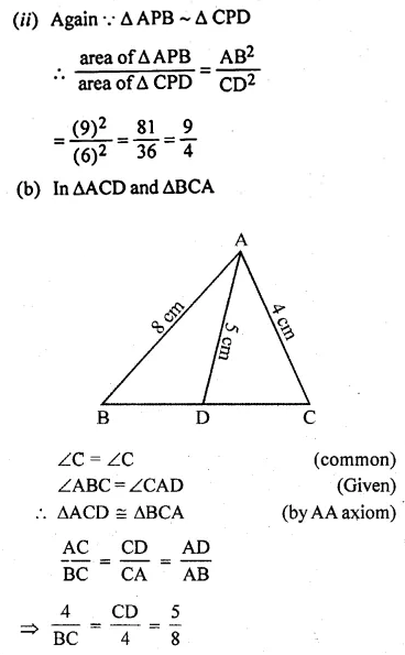 ML Aggarwal Class 10 Solutions for ICSE Maths Chapter 13 Similarity Ex 13.3 45