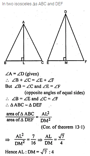 ML Aggarwal Class 10 Solutions for ICSE Maths Chapter 13 Similarity Ex 13.3 51