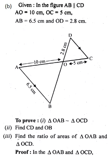 ML Aggarwal Class 10 Solutions for ICSE Maths Chapter 13 Similarity Ex 13.3 8
