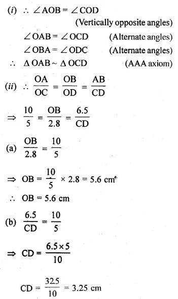 ML Aggarwal Class 10 Solutions for ICSE Maths Chapter 13 Similarity Ex 13.3 9