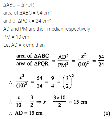 ML Aggarwal Class 10 Solutions for ICSE Maths Chapter 13 Similarity MCQS 31