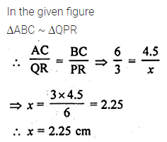 ML Aggarwal Class 10 Solutions for ICSE Maths Chapter 13 Similarity MCQS 4