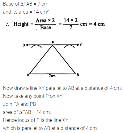 ML Aggarwal Class 10 Solutions for ICSE Maths Chapter 14 Locus Chapter Test 3