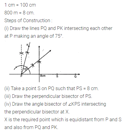 ML Aggarwal Class 10 Solutions for ICSE Maths Chapter 14 Locus Chapter Test 6
