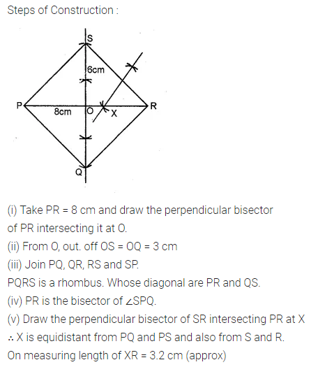 ML Aggarwal Class 10 Solutions for ICSE Maths Chapter 14 Locus Chapter Test 7