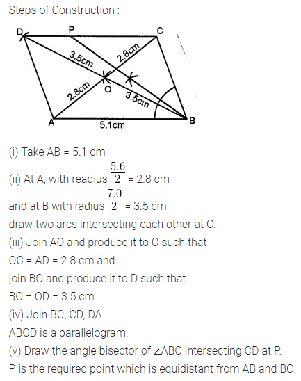 ML Aggarwal Class 10 Solutions for ICSE Maths Chapter 14 Locus Chapter Test 8