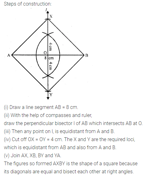 ML Aggarwal Class 10 Solutions for ICSE Maths Chapter 14 Locus Ex 14 15