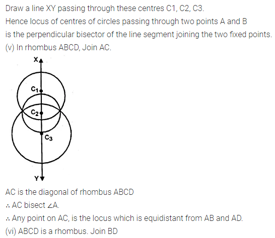ML Aggarwal Class 10 Solutions for ICSE Maths Chapter 14 Locus Ex 14 7
