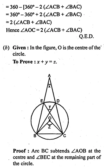 ML Aggarwal Class 10 Solutions for ICSE Maths Chapter 15 Circles Chapter Test 11