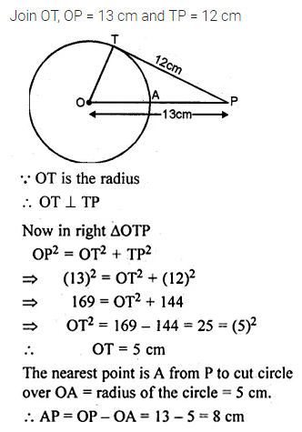 ML Aggarwal Class 10 Solutions for ICSE Maths Chapter 15 Circles Chapter Test 19