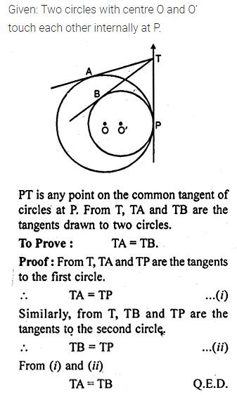 ML Aggarwal Class 10 Solutions for ICSE Maths Chapter 15 Circles Chapter Test 20