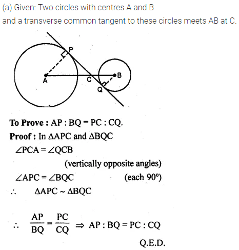 ML Aggarwal Class 10 Solutions for ICSE Maths Chapter 15 Circles Chapter Test 25