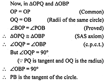 ML Aggarwal Class 10 Solutions for ICSE Maths Chapter 15 Circles Chapter Test 27