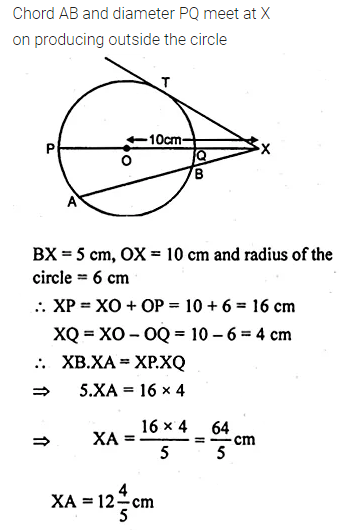 ML Aggarwal Class 10 Solutions for ICSE Maths Chapter 15 Circles Chapter Test 38