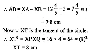 ML Aggarwal Class 10 Solutions for ICSE Maths Chapter 15 Circles Chapter Test 39