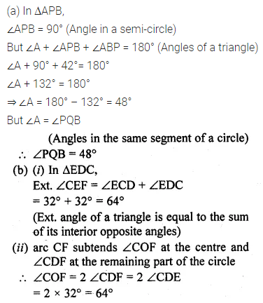 ML Aggarwal Class 10 Solutions for ICSE Maths Chapter 15 Circles Ex 15.1 20