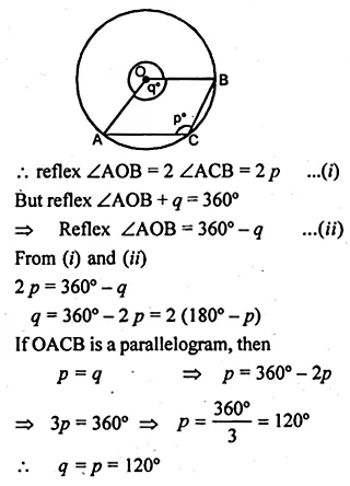 ML Aggarwal Class 10 Solutions for ICSE Maths Chapter 15 Circles Ex 15.1 29