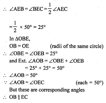 ML Aggarwal Class 10 Solutions for ICSE Maths Chapter 15 Circles Ex 15.2 46