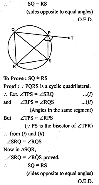 ML Aggarwal Class 10 Solutions for ICSE Maths Chapter 15 Circles Ex 15.2 51