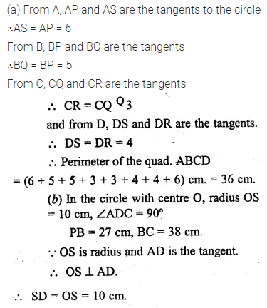 ML Aggarwal Class 10 Solutions for ICSE Maths Chapter 15 Circles Ex 15.3 11