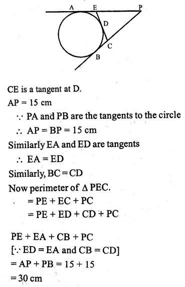 ML Aggarwal Class 10 Solutions for ICSE Maths Chapter 15 Circles Ex 15.3 15