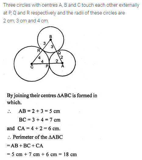 ML Aggarwal Class 10 Solutions for ICSE Maths Chapter 15 Circles Ex 15.3 20