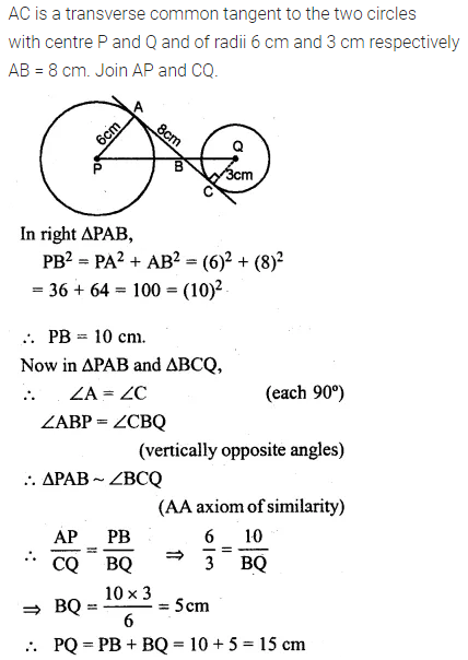 ML Aggarwal Class 10 Solutions for ICSE Maths Chapter 15 Circles Ex 15.3 37