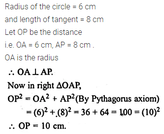 ML Aggarwal Class 10 Solutions for ICSE Maths Chapter 15 Circles Ex 15.3 4