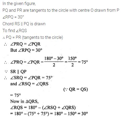 ML Aggarwal Class 10 Solutions for ICSE Maths Chapter 15 Circles Ex 15.3 46