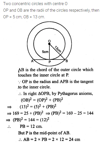 ML Aggarwal Class 10 Solutions for ICSE Maths Chapter 15 Circles Ex 15.3 5