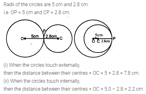 ML Aggarwal Class 10 Solutions for ICSE Maths Chapter 15 Circles Ex 15.3 6