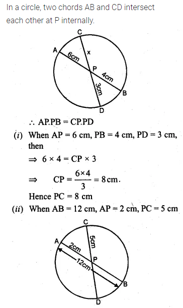 ML Aggarwal Class 10 Solutions for ICSE Maths Chapter 15 Circles Ex 15.3 73