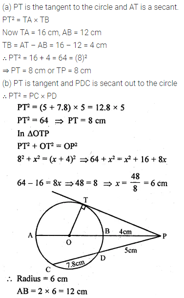 ML Aggarwal Class 10 Solutions for ICSE Maths Chapter 15 Circles Ex 15.3 77