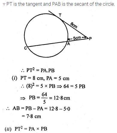 ML Aggarwal Class 10 Solutions for ICSE Maths Chapter 15 Circles Ex 15.3 78