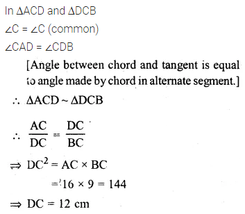 ML Aggarwal Class 10 Solutions for ICSE Maths Chapter 15 Circles Ex 15.3 81